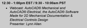 AutoCAD Mechanical and AutoCAD Electrical webcast